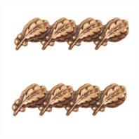 Vanguard RIBBON ATTACHMENTS: FOUR OAK LEAF CLUSTERS MOUNTED ON A BAR - BRONZE