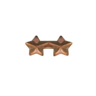 Vanguard NO PRONG RIBBON ATTACHMENTS: TWO STARS MOUNTED ON A BAR - BRONZE