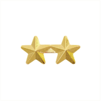 Vanguard RIBBON ATTACHMENTS: TWO STARS MOUNTED ON A BAR - 5/16 INCH, GOLD