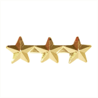 Vanguard RIBBON ATTACHMENTS: THREE STARS MOUNTED ON A BAR - 5/16 INCH, GOLD