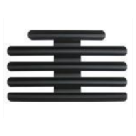 "Vanguard Ribbon Mounting Bar Fits 14 Ribbons Black Metal w/ 1/8"" Spacing"