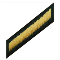 Vanguard ARMY SERVICE STRIPE HASH MARK: MALE - GOLD EMBROIDERED ON GREEN