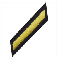 Vanguard ARMY SERVICE STRIPE HASH MARK: FEMALE - GOLD EMBROIDERED ON BLUE