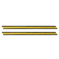 Vanguard ARMY SERVICE STRIPE: GOLD EMBROIDERED ON BLUE - MALE, SET OF 1