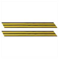 Vanguard ARMY SERVICE STRIPE: GOLD EMBROIDERED ON BLUE - MALE, SET OF 2