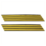 Vanguard ARMY SERVICE STRIPE: GOLD EMBROIDERED ON BLUE - MALE, SET OF 3