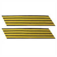 Vanguard ARMY SERVICE STRIPE: GOLD EMBROIDERED ON BLUE - MALE, SET OF 4