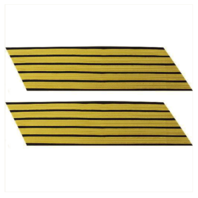 Vanguard ARMY SERVICE STRIPE: GOLD EMBROIDERED ON BLUE - MALE, SET OF 5