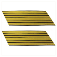 Vanguard ARMY SERVICE STRIPE: GOLD EMBROIDERED ON BLUE - MALE, SET OF 6