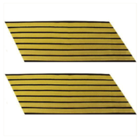 Vanguard ARMY SERVICE STRIPE: GOLD EMBROIDERED ON BLUE - MALE, SET OF 7