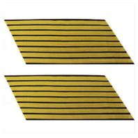 Vanguard ARMY SERVICE STRIPE: GOLD EMBROIDERED ON BLUE - MALE, SET OF 8