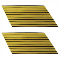 Vanguard ARMY SERVICE STRIPE: GOLD EMBROIDERED ON BLUE - MALE, SET OF 9