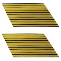 Vanguard ARMY SERVICE STRIPE: GOLD EMBROIDERED ON BLUE - MALE, SET OF 10