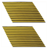 Vanguard ARMY SERVICE STRIPE: GOLD EMBROIDERED ON BLUE - MALE, SET OF 12