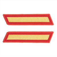 Vanguard MARINE CORPS SERVICE STRIPE: FEMALE - GOLD ON RED, SET OF 1