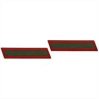 Vanguard MARINE CORPS SERVICE STRIPE: MALE - GREEN EMBROIDERED ON RED, SET OF 1