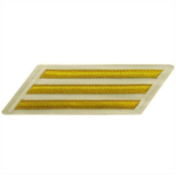 Vanguard NAVY ENLISTED HASH MARKS: GOLD LACE ON WHITE - SET OF 3