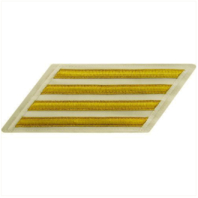 Vanguard NAVY ENLISTED HASH MARKS: GOLD LACE ON WHITE - SET OF 4