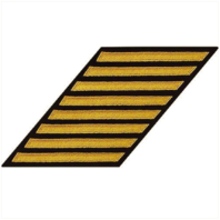 Vanguard NAVY CPO HASH MARKS: SEAWORTHY GOLD EMBROIDERED ON BLUE - SET OF 8