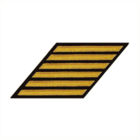 Vanguard NAVY HASH MARKS: SEAWORTHY GOLD ON BLUE - FEMALE, SET OF 6