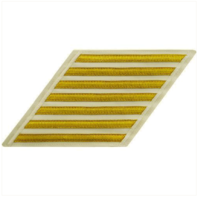 Vanguard NAVY CPO HASH MARKS: GOLD LACE ON WHITE - SET OF 7