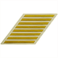 Vanguard NAVY CPO HASH MARKS: GOLD LACE ON WHITE - SET OF 8