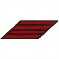 Vanguard NAVY ENLISTED HASH MARKS: RED EMBROIDERED ON BLUE SERGE - SET OF 4