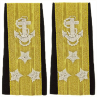 Vanguard NAVY SOFT SHOULDER MARK: LINE VICE ADMIRAL THREE-STAR