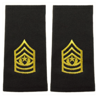Vanguard ARMY EPAULET: COMMAND SERGEANT MAJOR - LARGE