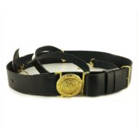 Vanguard NAVY SWORD BELT - LEATHER WITH GOLD BUCKLE 36""