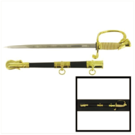 Vanguard NAVY LETTER OPENER: NAVY SWORD WITH SCABBARD