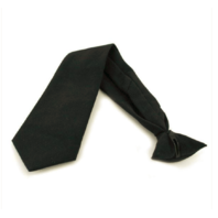 Vanguard ARMY TIE: PRE TIED CLIP ON - BLACK EXTRA LONG LENGTH