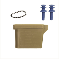 Vanguard EAR PLUGS: PLUGS WITH CHAIN AND OCP CASE - LARGE SIZE