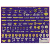 Vanguard POSTER: BADGES FOR THE NAVY, MARINE CORPS AND COAST GUARD