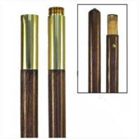Vanguard FLAG POLE: OAK - JOINTED - 7 FOOT BY 1 INCH