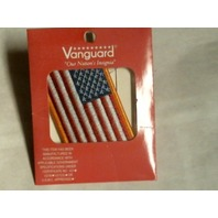 Vanguard US American Flag Patch 2x3 Inches Gold Merrowed Edge