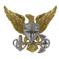 Vanguard USCG US Coast Guard Officer Cap Device Regulation Size Unmounted