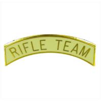 Vanguard ARMY ROTC ARC TAB: RIFLE TEAM - GOLD PLATED