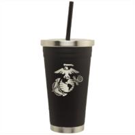 Vanguard MARINE CORPS BLACK STAINLESS STEEL SPIRIT CUP