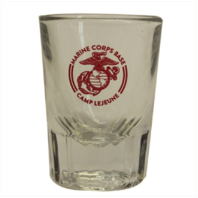 Vanguard MARINE CORPS SHOT GLASS - CAMP LEJEUNE 2OZ