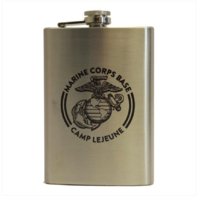 Vanguard MARINE CORPS STAINLESS STEEL FLASK: CAMP LEJEUNE 8OZ