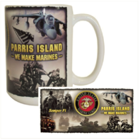 Vanguard MARINE CORPS MUG - MCRD PARRIS ISLAND - WE MAKE MARINES