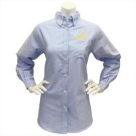Vanguard NAVY LEAGUE WOMEN'S LIGHT BLUE LONG SLEEVE OXFORD SHIRT W/GOLD LOGO 3XL