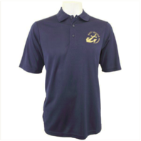 Vanguard NAVY LEAGUE MEN'S NAVY PERFORMANCE POLO SHIRT WITH GOLD LOGO - 4XL