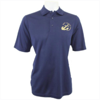 Vanguard NAVY LEAGUE WOMEN'S NAVY PERFORMANCE POLO SHIRT W/GOLD LOGO - LARGE