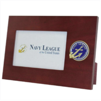 "Vanguard NAVY LEAGUE: PHOTO FRAME 4"" X 6"" WITH NAVY LEAGUE LOGO"