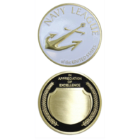 Vanguard NAVY LEAGUE APPRECIATION COIN - ANTIQUE GOLD