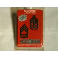 Vanguard Army Master & First Sergeant Chevron Black Subdued Metal Rank Insignia