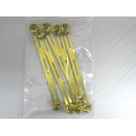5 Pack Vanguard Brass Ribbon Mounting Bar Clutch Back Fitting 3 Ribbons