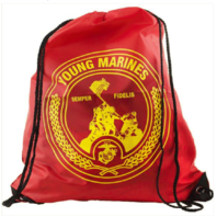 Vanguard YOUNG MARINES LARGE DRAWSTRING BACKPACK